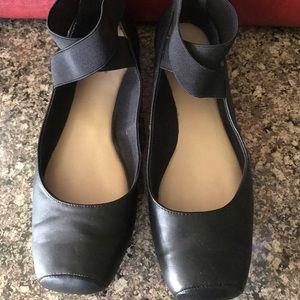 Black ballet style shoe